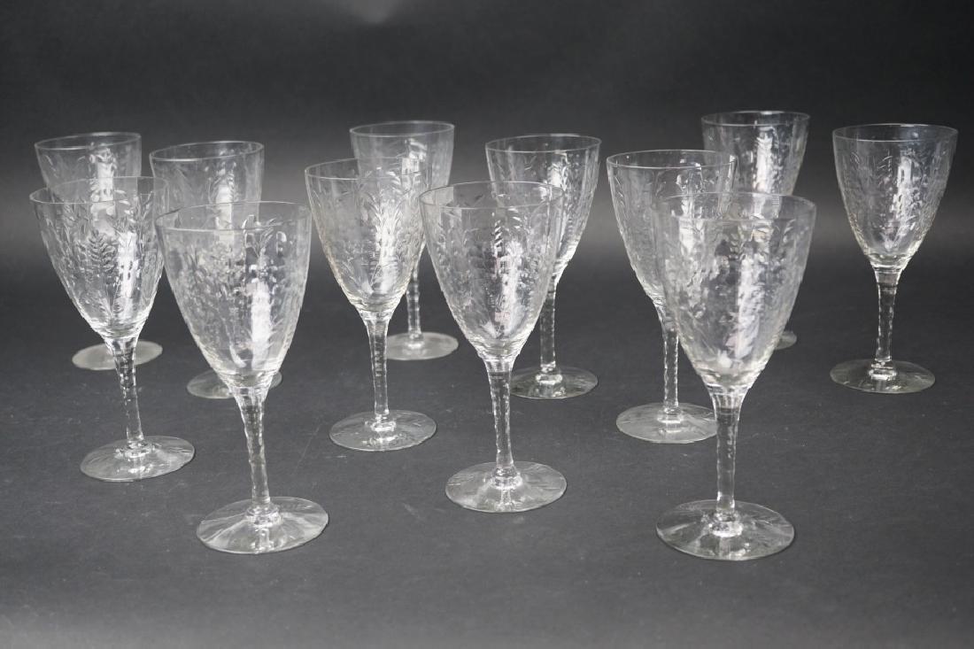 (12) VINTAGE CUT CRYSTAL WINE GLASSES