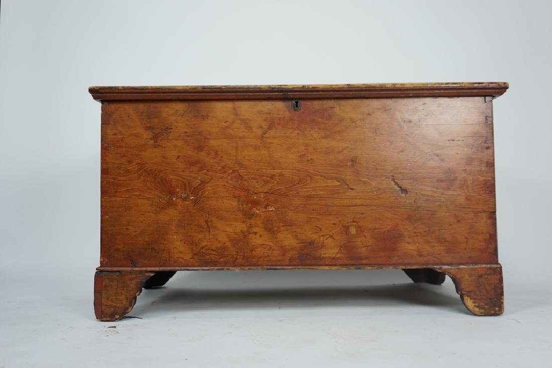PRIMITIVE ANTIQUE PINE CHEST