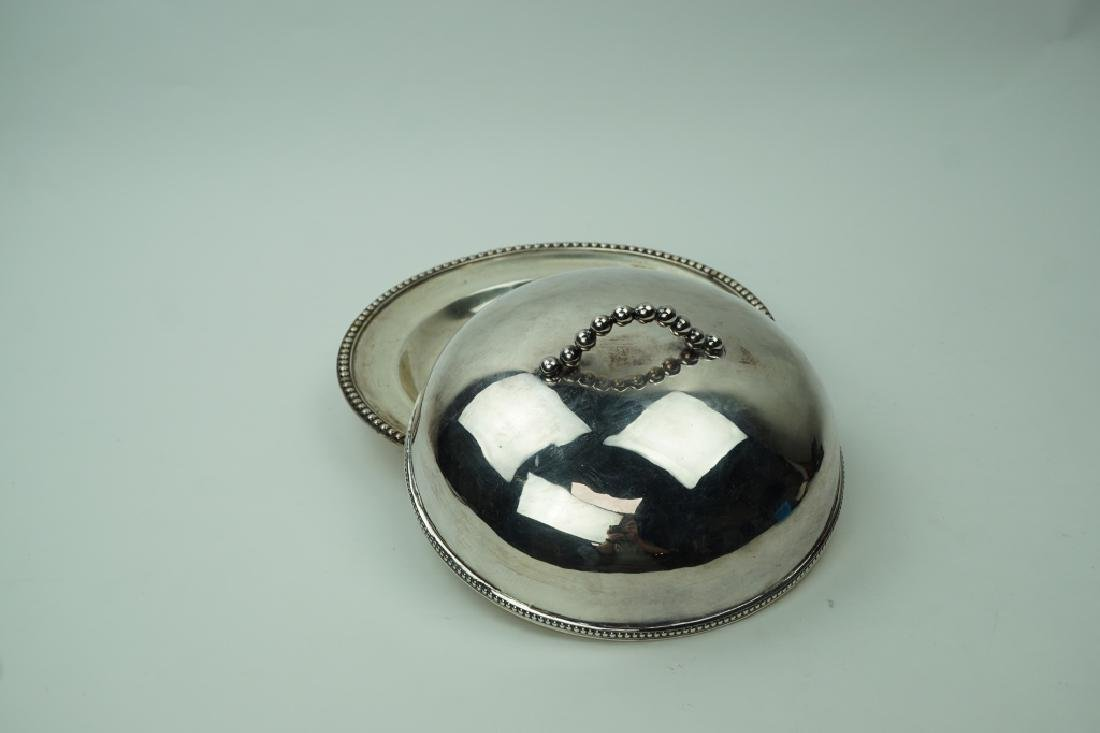 SILVERPLATE COVERED HOT DISH