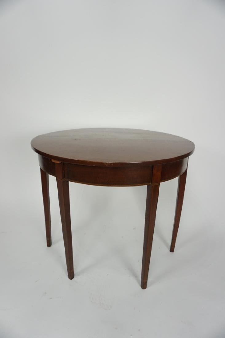 ANTIQUE FEDERAL INLAID MAHOGANY GAME TABLE