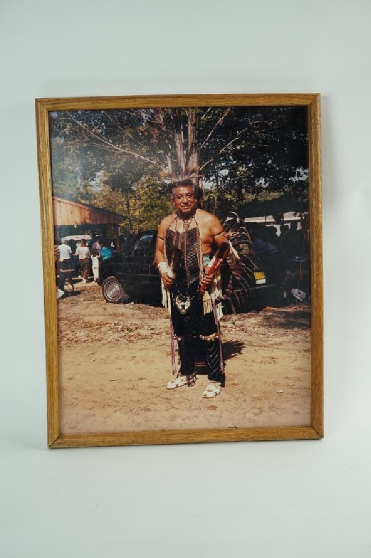FRAMED PHOTO OF PAWNEE CHIEF EZRA FIELDS