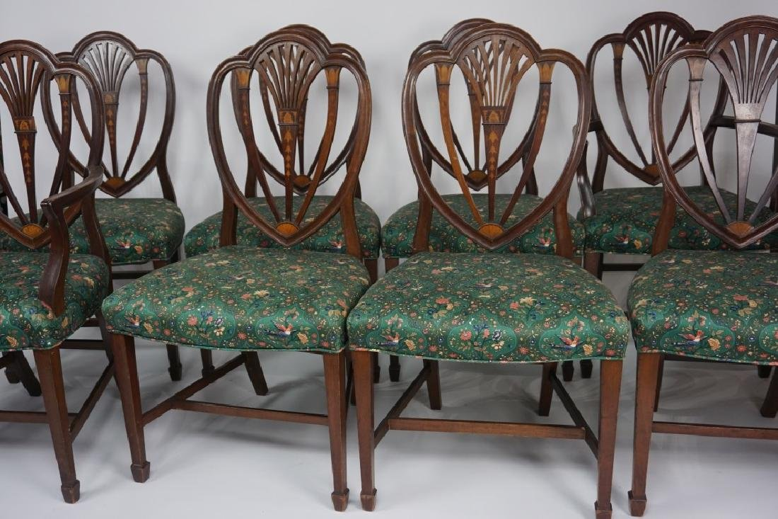 (8) ANTIQUE AMERICAN HEPPLEWHITE DINING CHAIRS