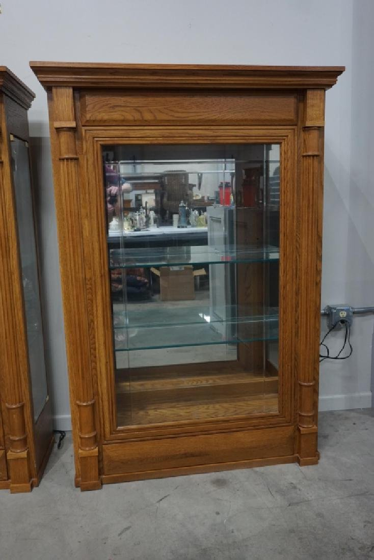 VINTAGE OAK DISPLAY CABINET