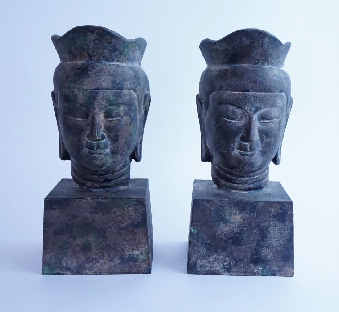 (2) BUDDIST FIGURAL BUSTS