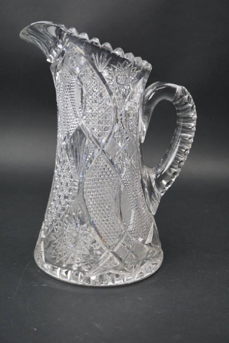 AMERICAN BRILLIANT PERIOD CUT GLASS PITCHER