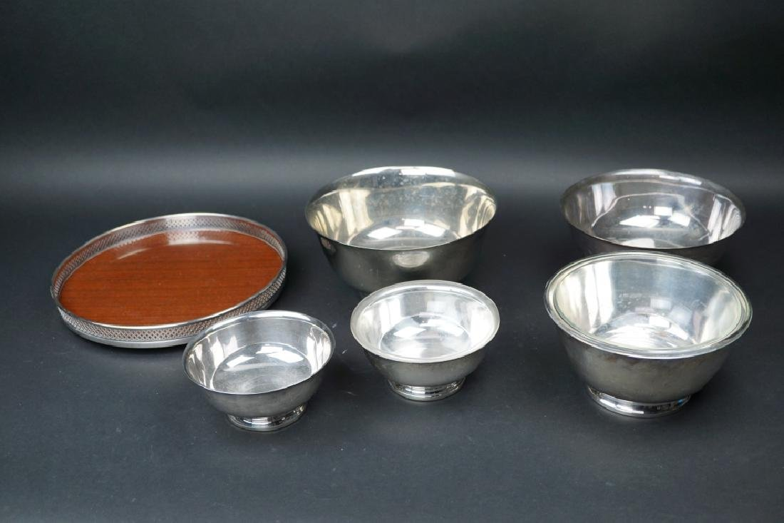 6pcs ASSORTED VINTAGE SILVER PLATE