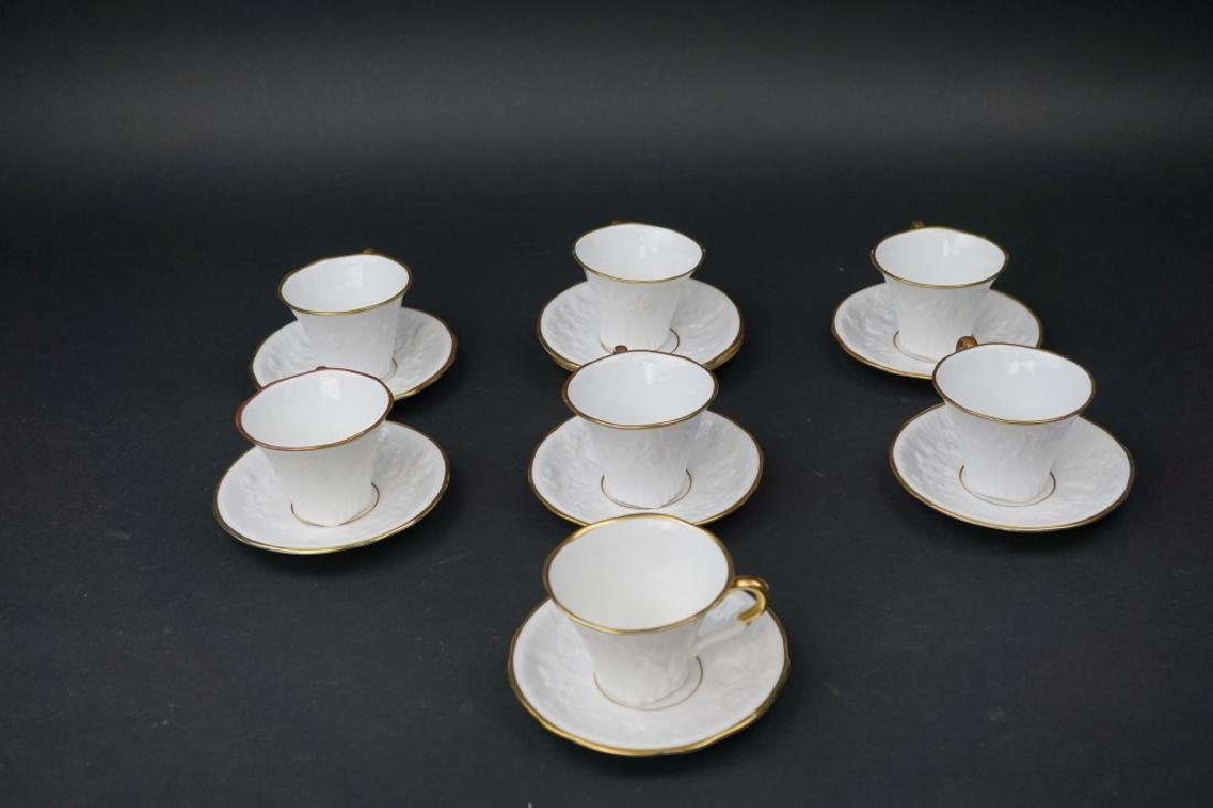 15pc ROYAL STAFFORD OLD ENGLISH OAK CUPS & SAUCERS