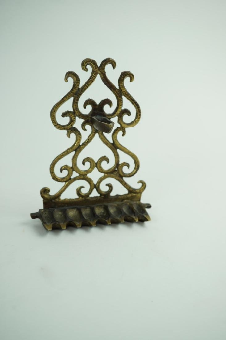 BRONZE NORTH AFRICAN MENORAH