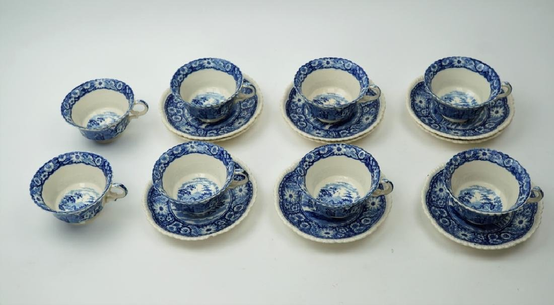 17pcs ROYAL CAULDON CUPS & SAUCERS