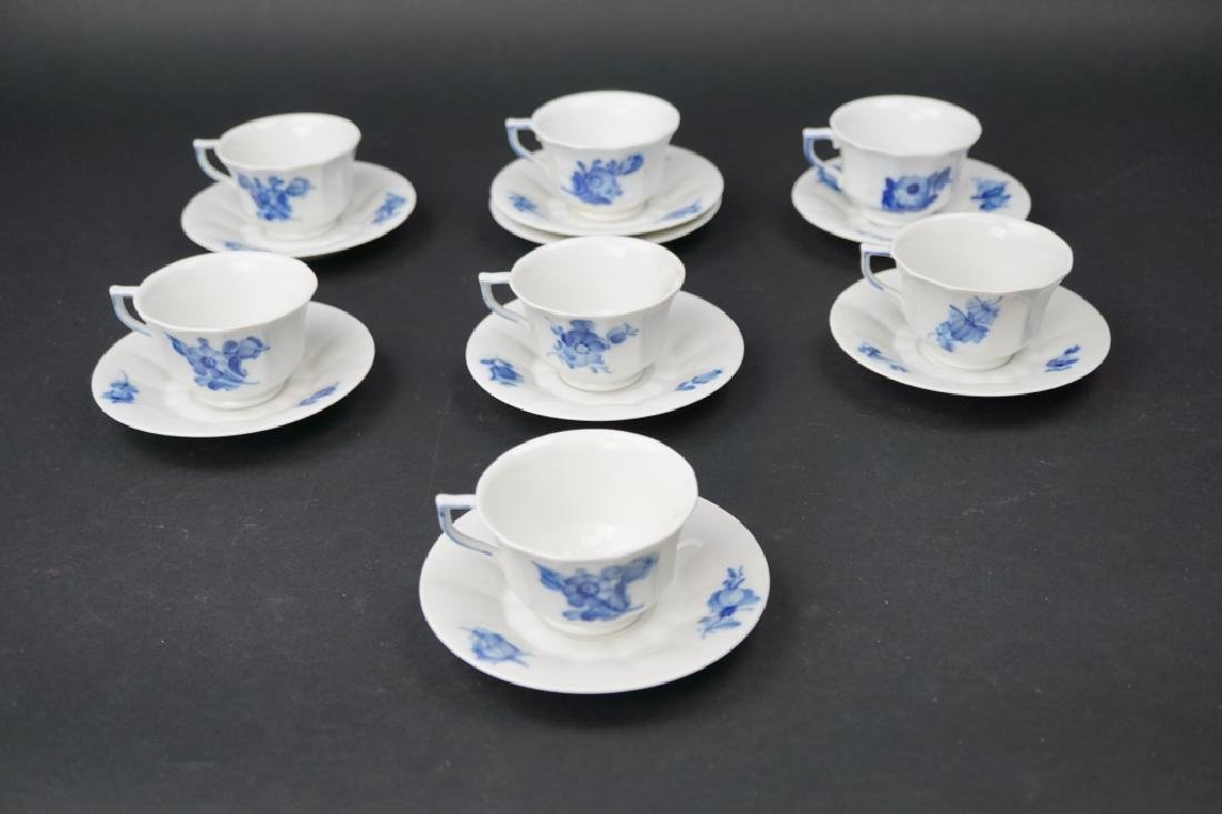 (15) ROYAL COPENHAGEN CUPS & SAUCERS