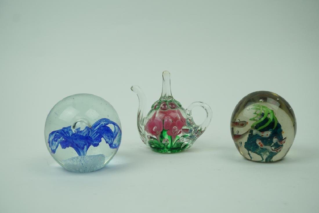 (3) ASSORTED VINTAGE PAPERWEIGHTS