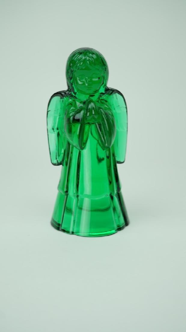 EMERALD GREEN FENTON ART GLASS ANGEL