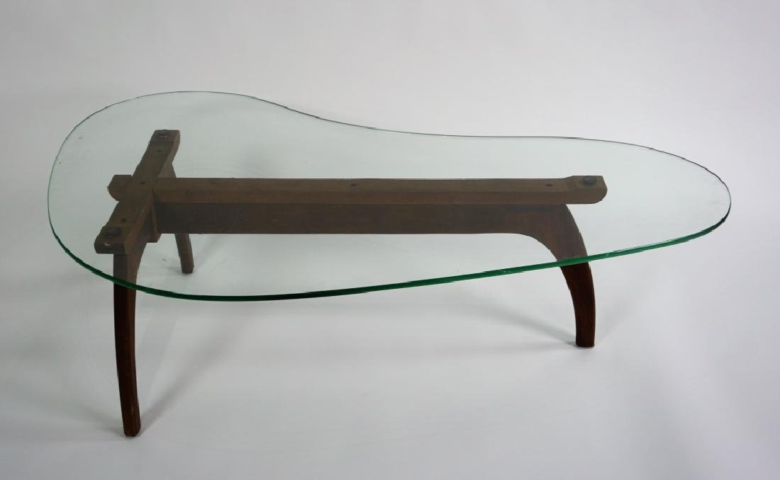 MID-CENTURY MODERN KIDNEY-SHAPED COFFEE TABLE