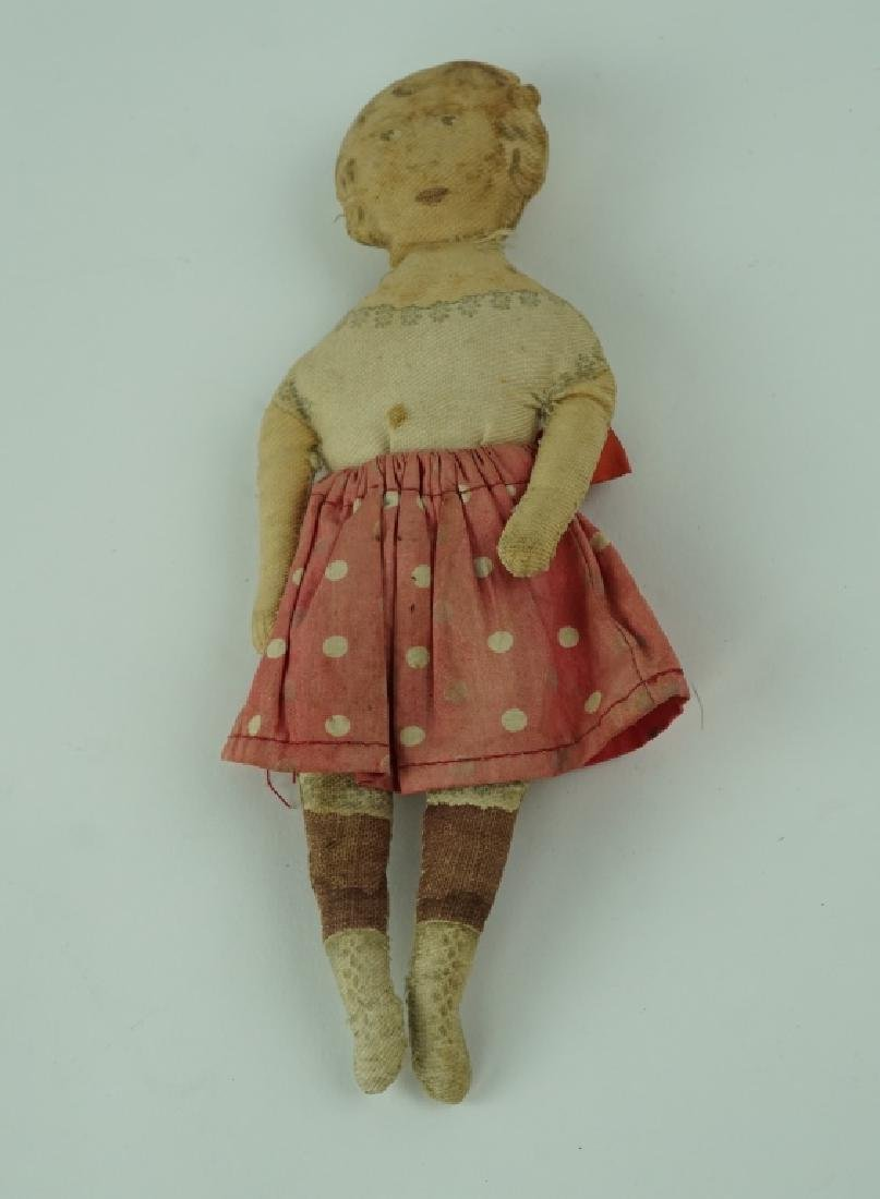 ANTIQUE FABRIC PRINTED DOLL