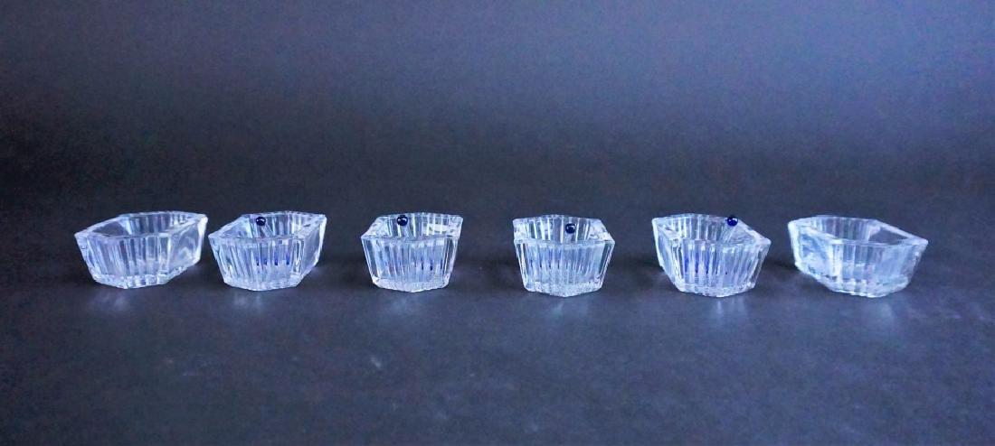 (6) CUT GLASS SALT CELLARS
