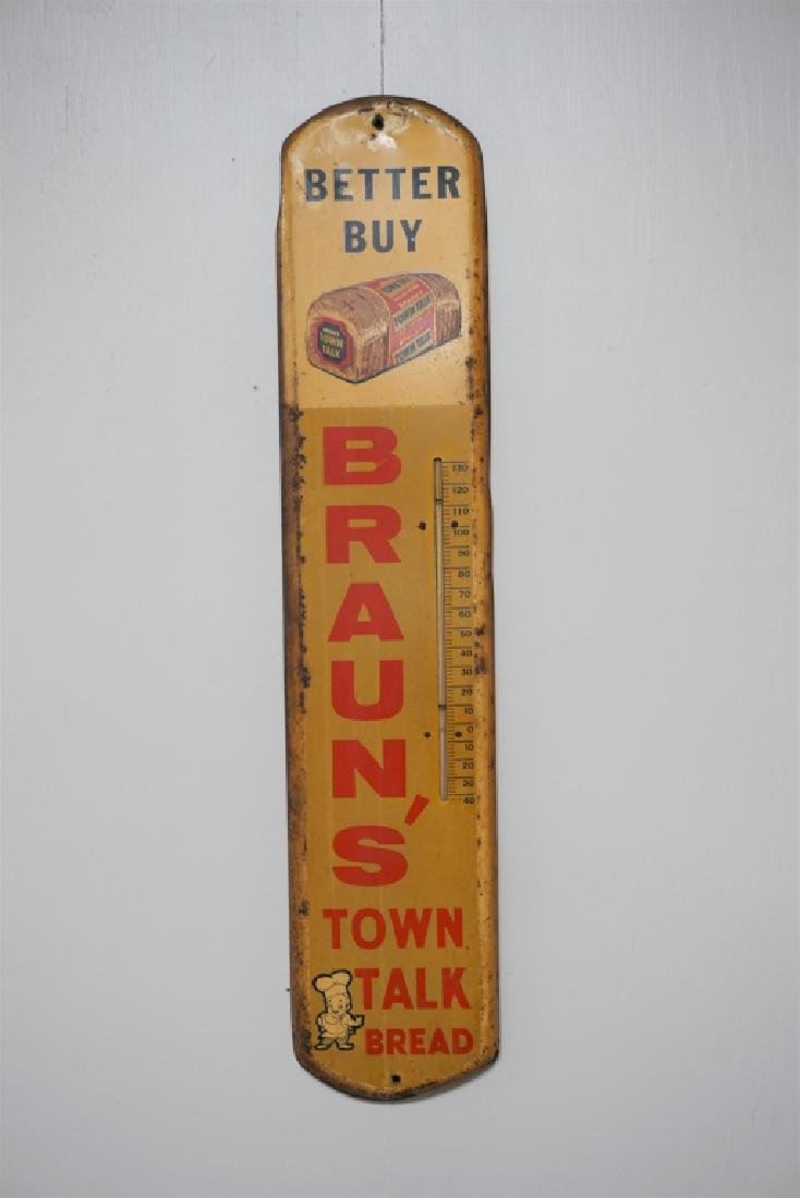 VINTAGE BRAUN'S TOWN TALK BREAD THERMOMETER