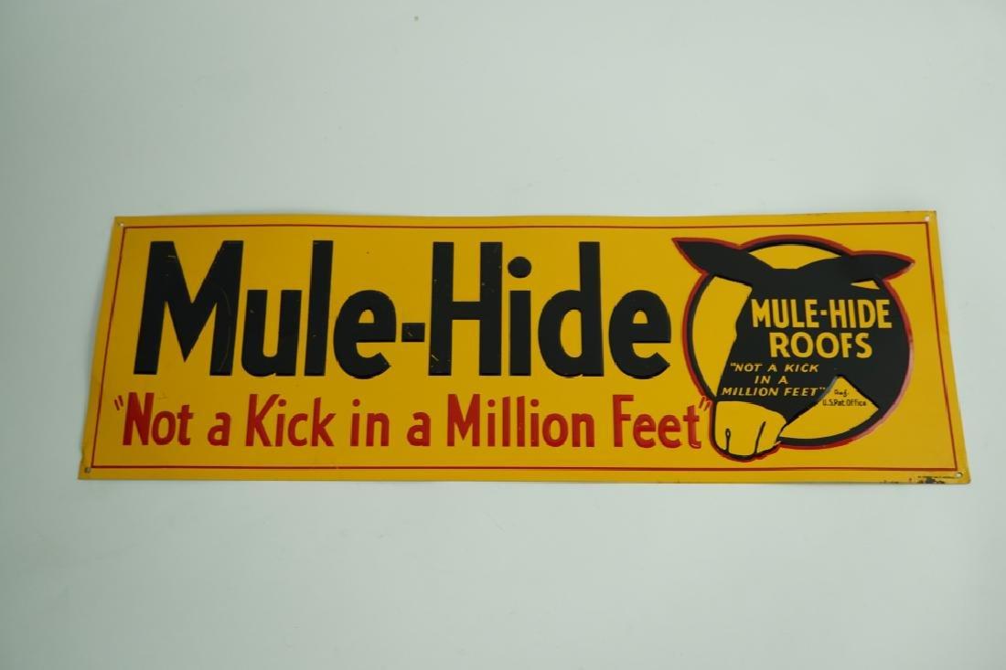 VINTAGE MULE-HIDE ROOFS ADVERTISING SIGN