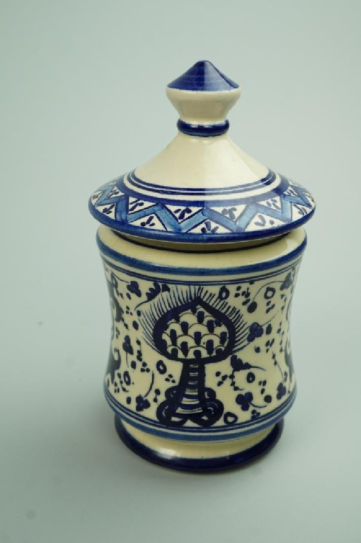 PATERNA MAJOLICA HAND PAINTED LIDDED JAR