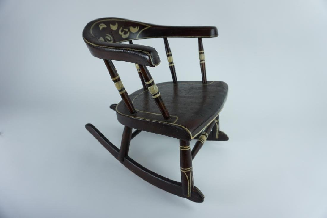 HAND MADE CHILD'S ROCKING CHAIR