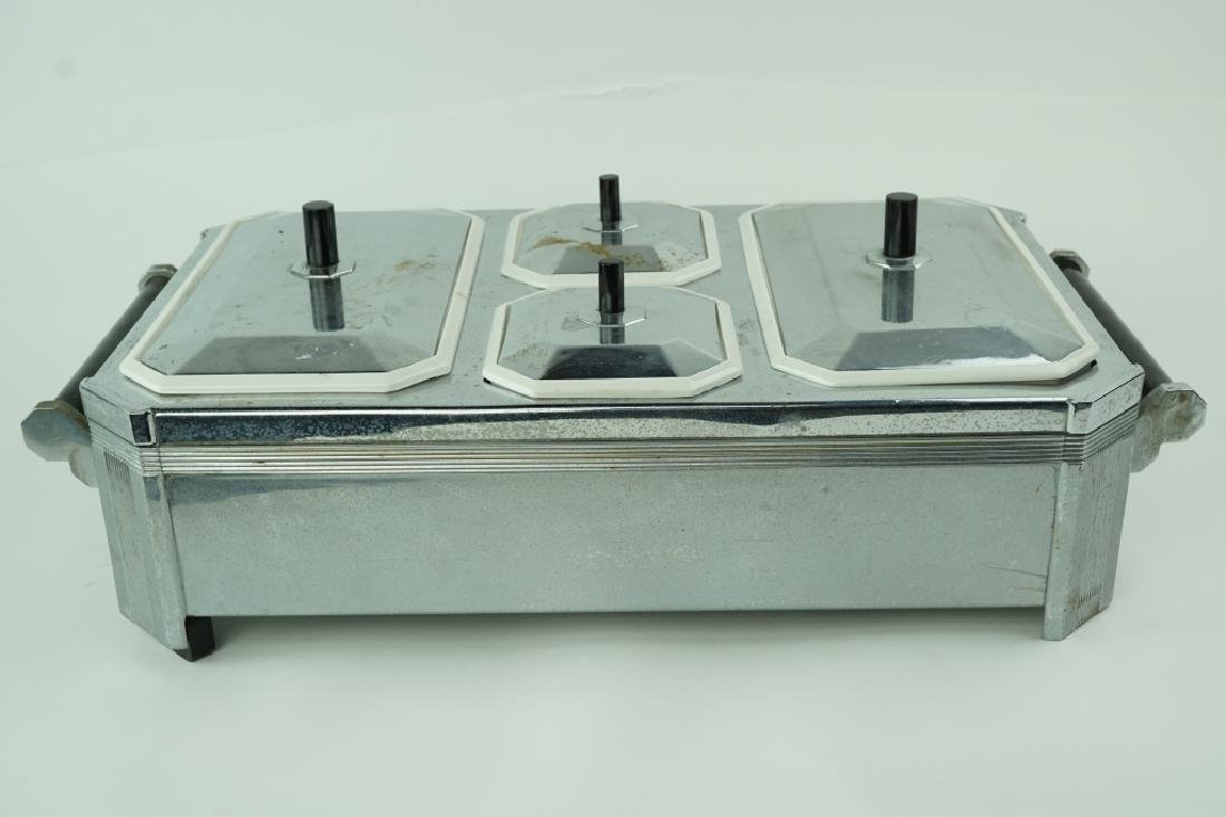 ANTIQUE CHASE ELECTRIC ART DECO FOOD WARMER