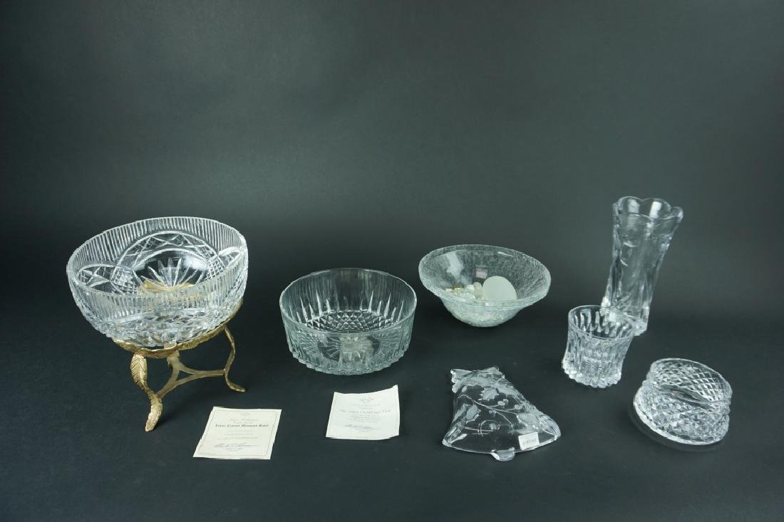8pcs ASSORTED CRYSTAL AND GLASS