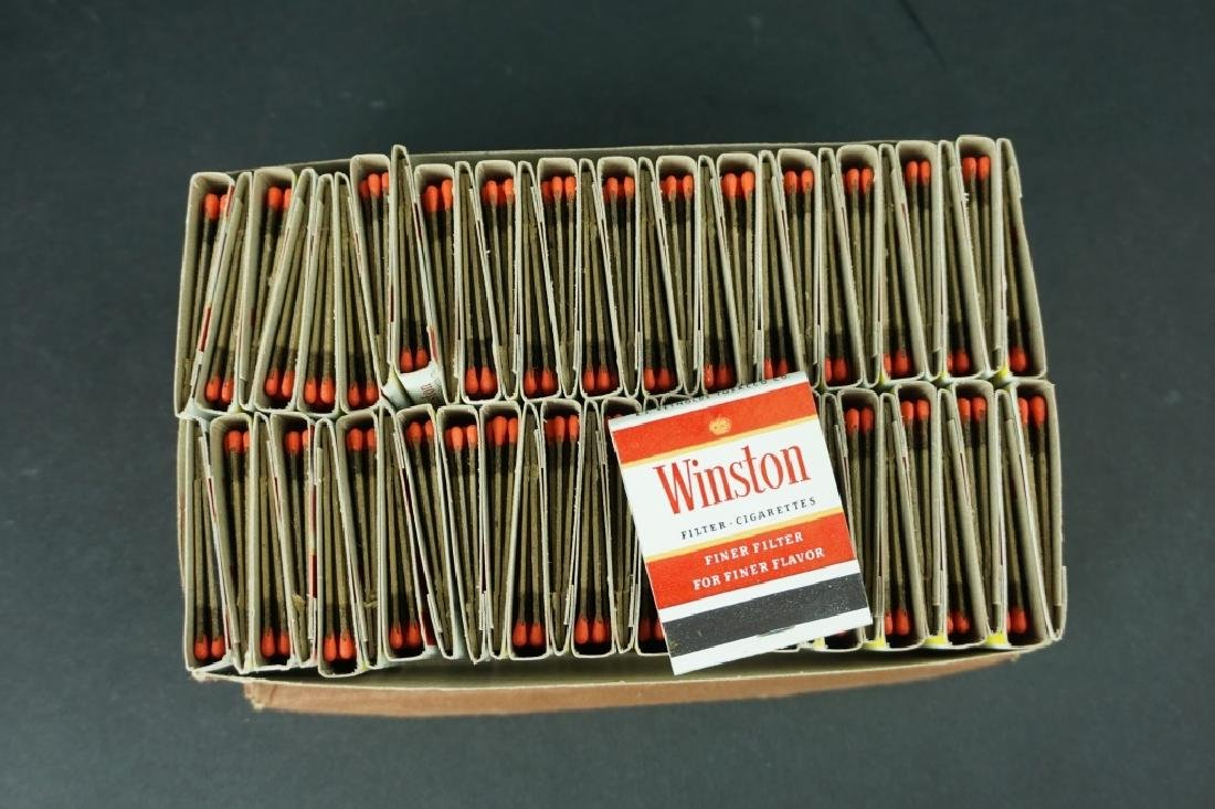 BOX OF VINTAGE WINSTON CIGARETTE MATCHBOOKS