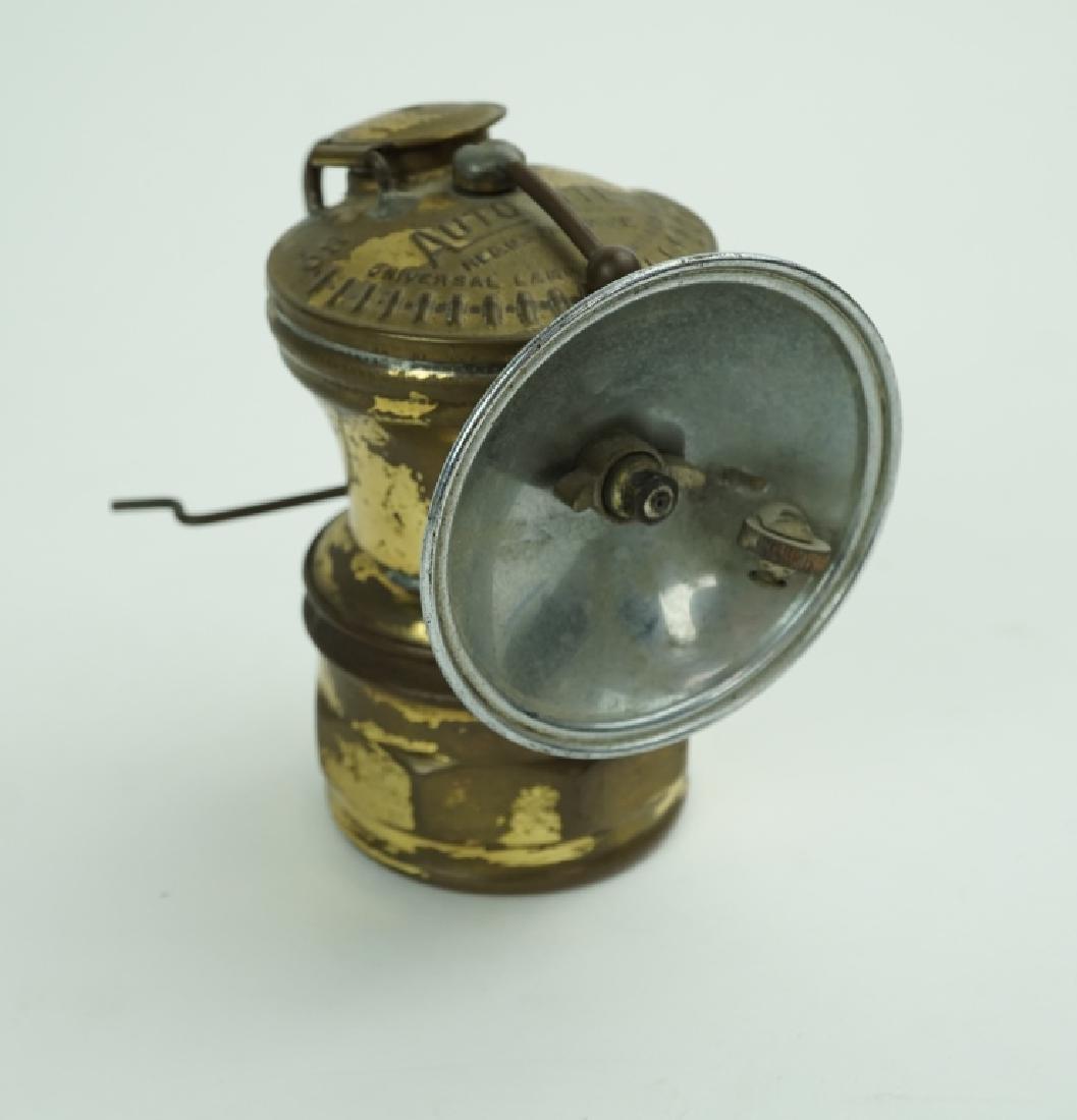 VINTAGE AUTO-LITE CARBIDE MINERS HEAD LAMP