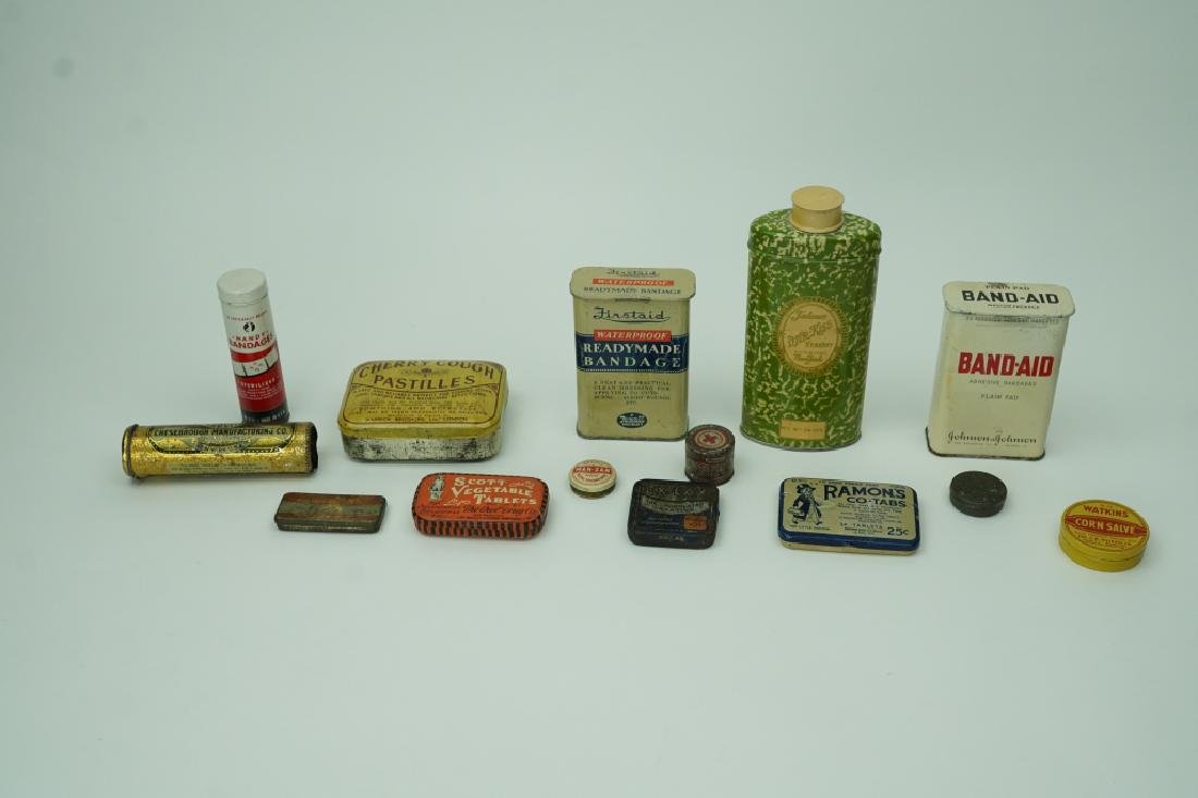 (14) ASSORTED ADVERTISING TIN