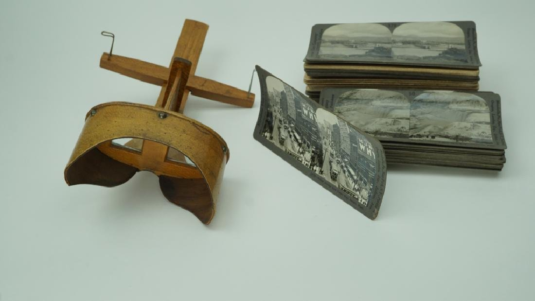 58 STEREO CARDS WITH STEREO VIEWER