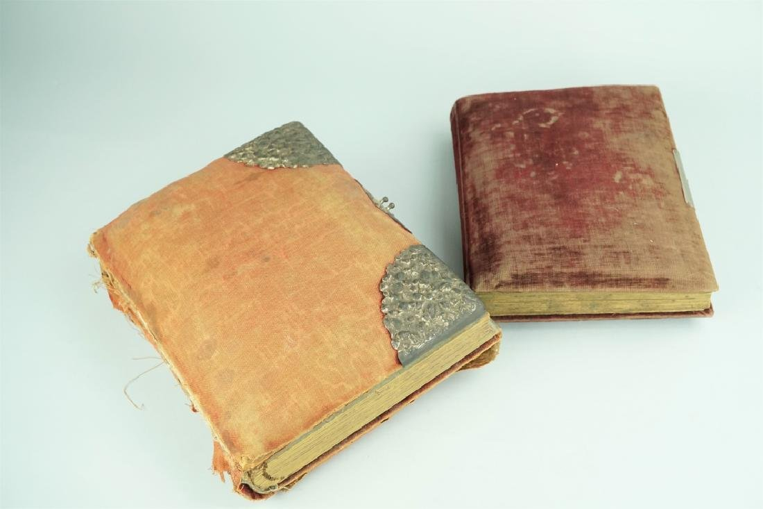 2 ANTIQUE ALBUMS OF ASSORTED CABINET CARDS