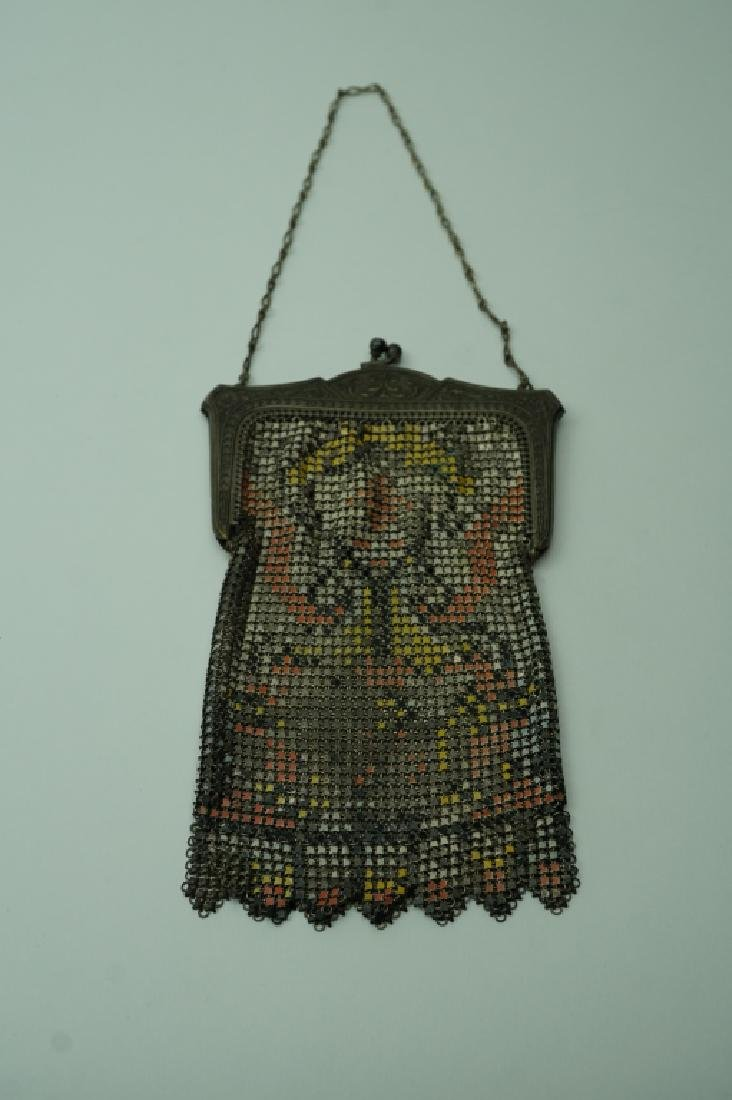 ANTIQUE WHITING AND DAVIS MESH PURSE