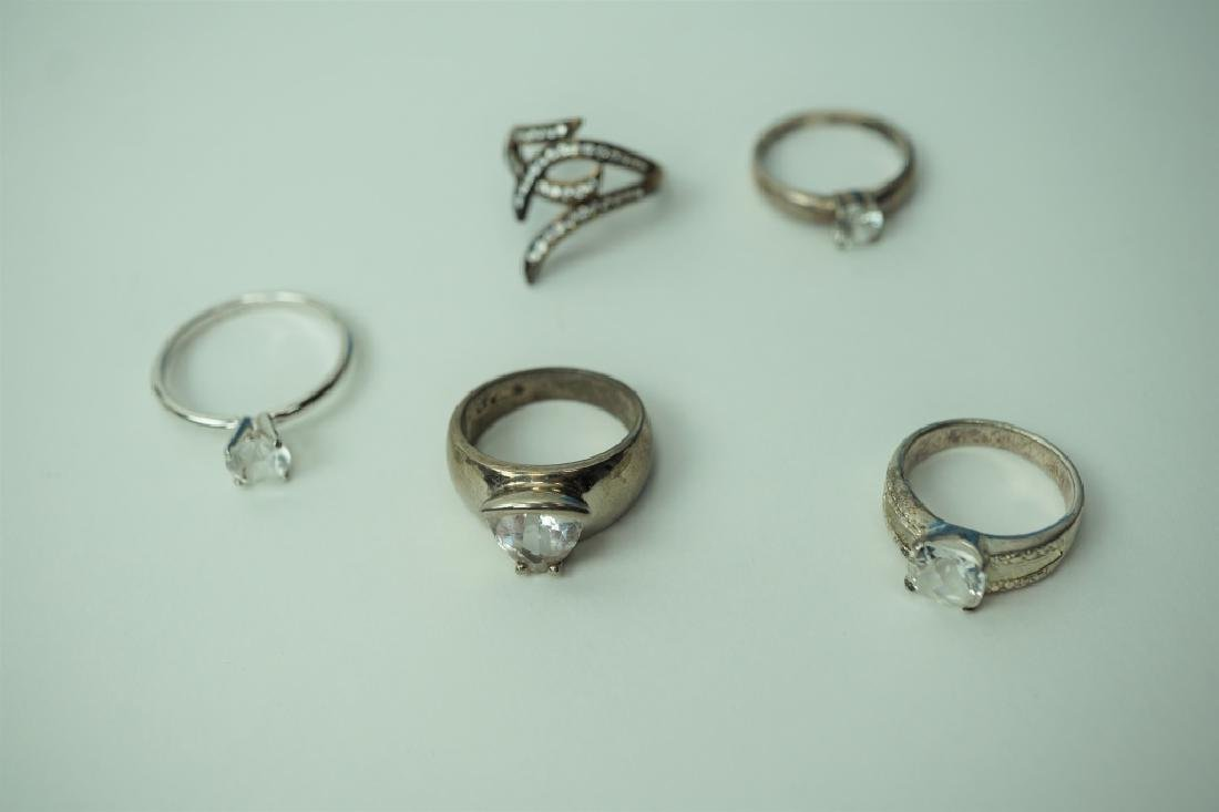 (5) ASSORTED STERLING SILVER RINGS