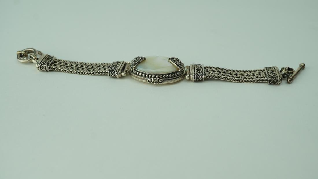 SUARTI WOVEN STERLING & MOTHER OF PEARL BRACELET