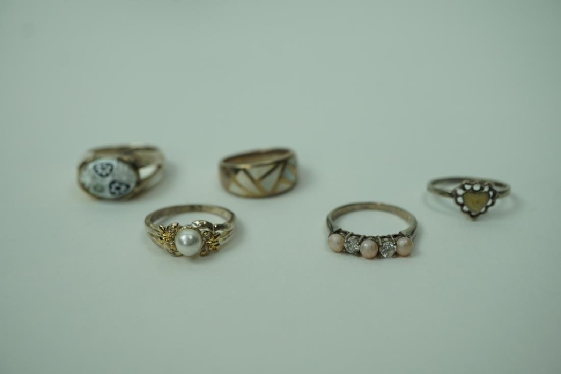 (5) ASSORTED STERLING SILVER RING
