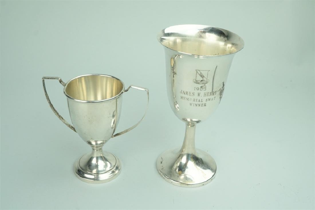 (2) ASSORTED STERLING SILVER GOBLETS