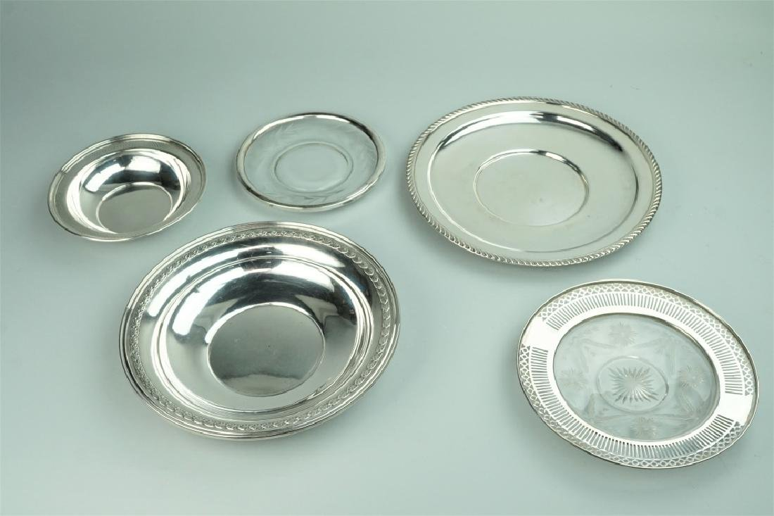 (5) ASSORTED STERLING SILVER DISHES