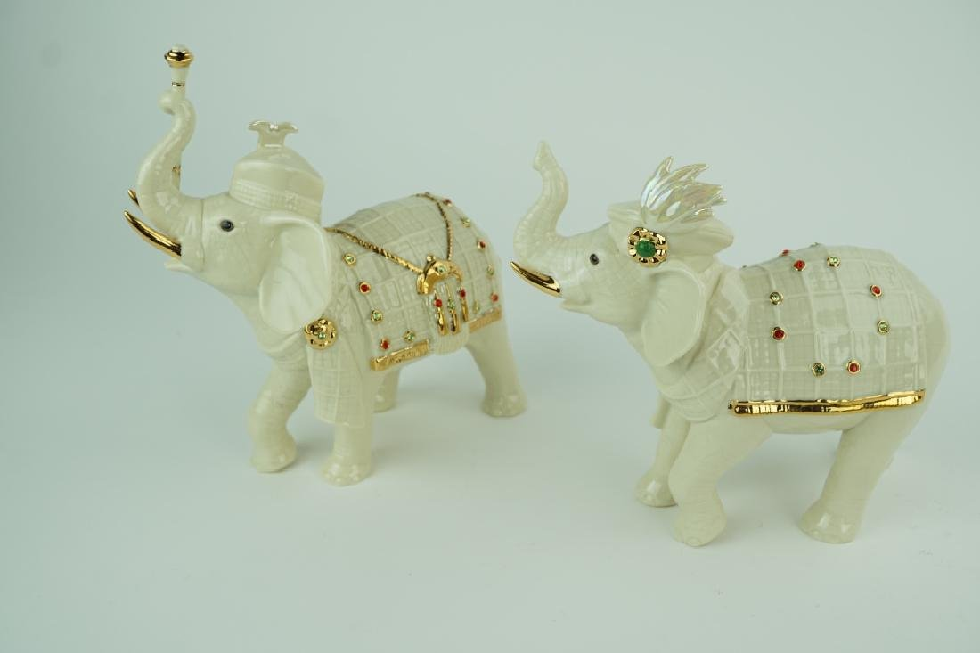 "2pc LENOX ""ELEPHANTS OF THE HIGHLANDS"" SET"