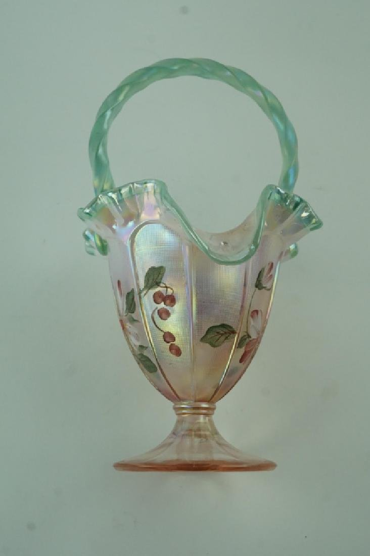 FENTON ART GLASS LIMITED EDITION BASKET