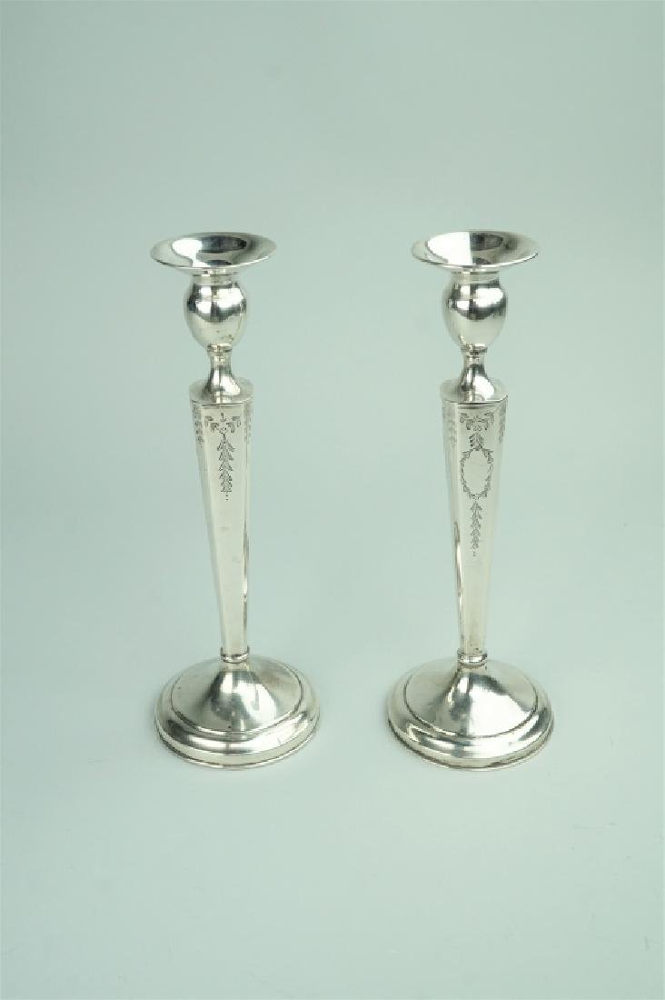 PAIR STERLING SILVER CANDLE STICKS