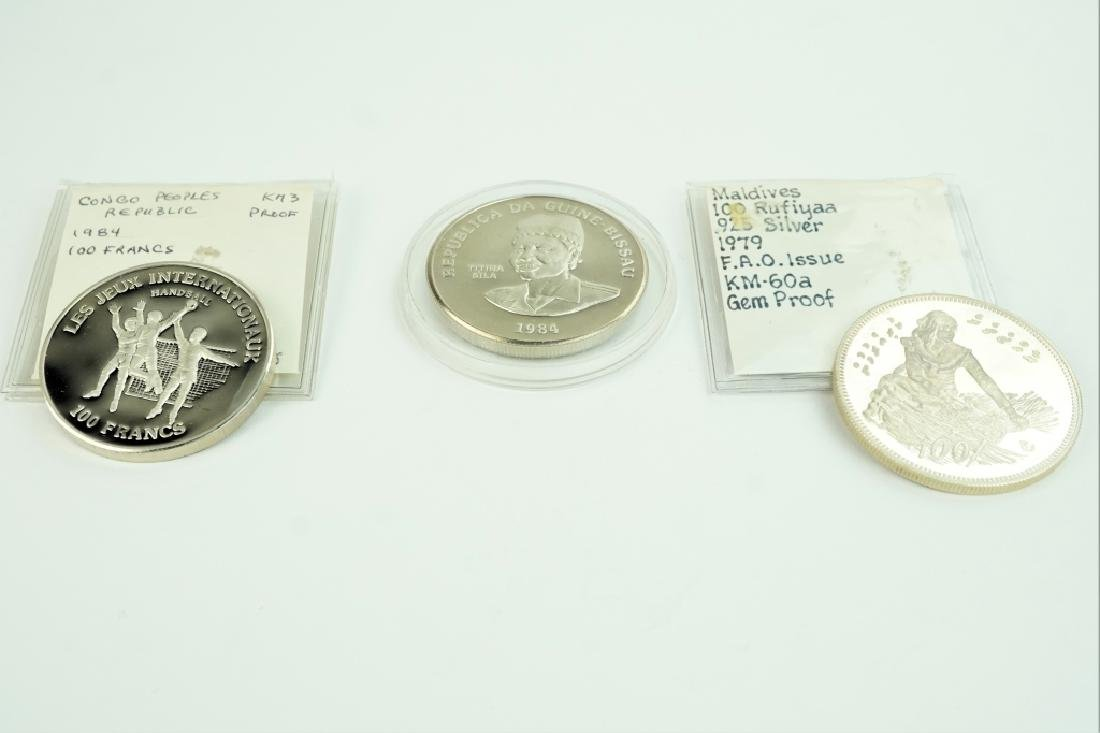 (3) ASSORTED FOREIGN PROOF COINS