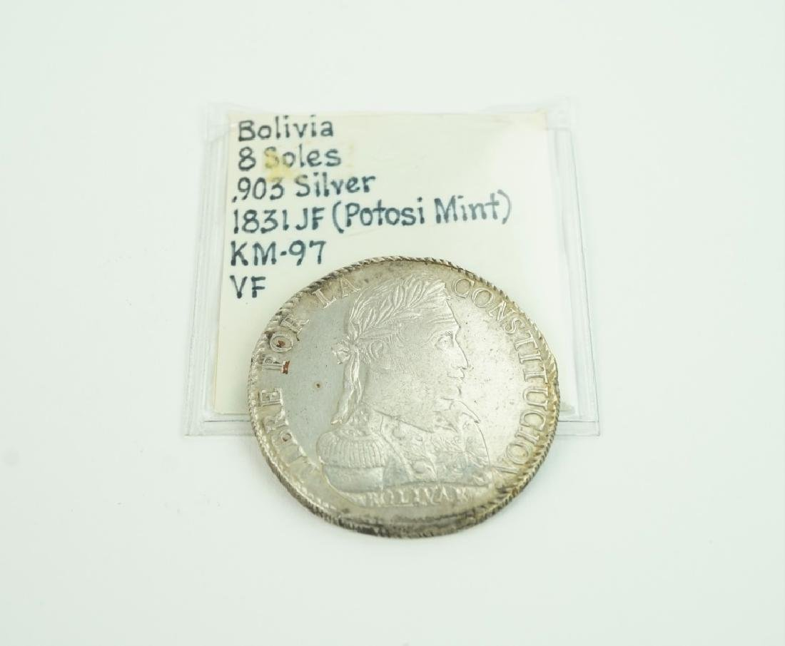1831 PTS-JF BOLIVIA 8 SOLES COIN KM# 97