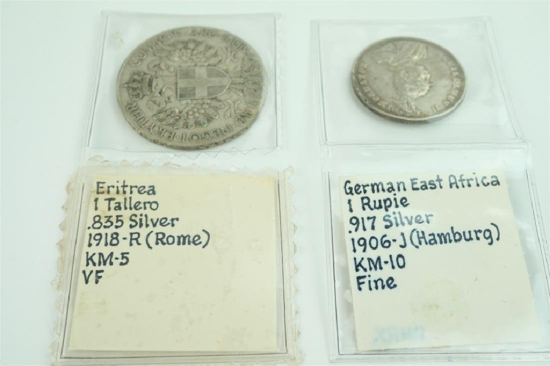 (2) ASSORTED FOREIGN COINS