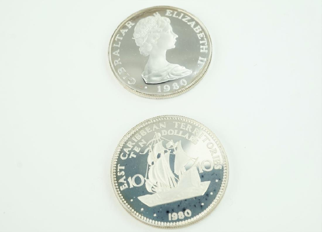 (2) ASSORTED 1980 FOREIGN ANNIVERSARY COINS