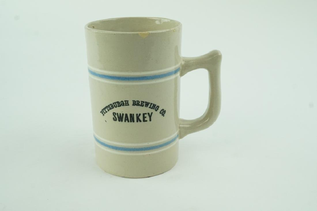 ANTIQUE PITTSBURGH BREWING CO SWANLEY BEER MUG