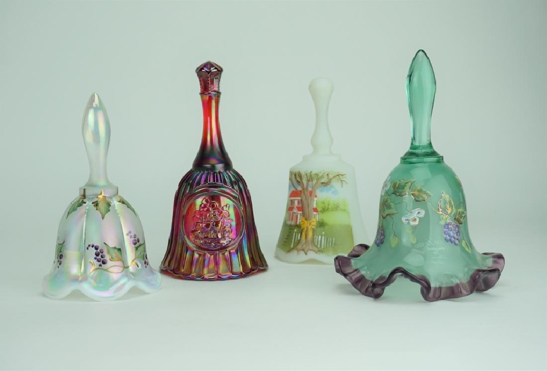(4) ASSORTED GLASS BELLS