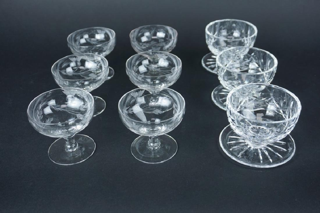 9pcs ASSORTED GLASSWARE AND CRYSTAL