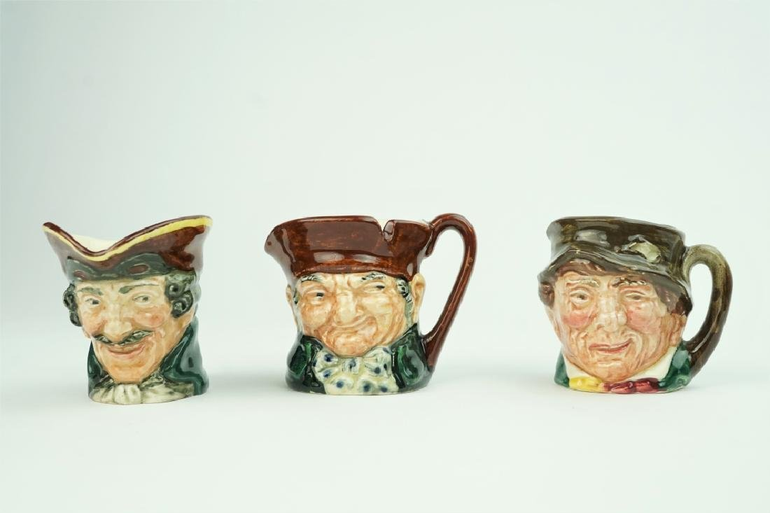 (3) ASSORTED VINTAGE ROYAL DOULTON TOBY MUGS