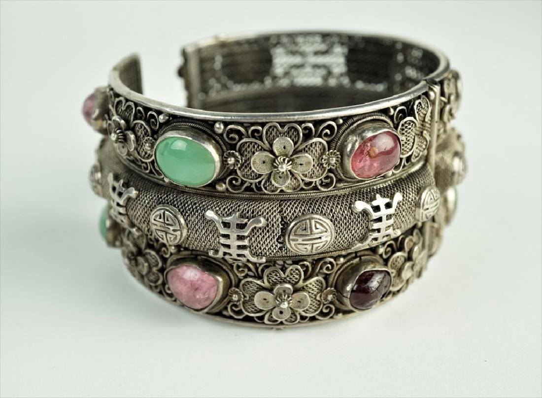 CHINESE SILVER CUFF BRACELET