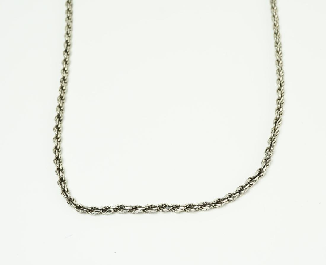 STERLING SILVER ROPE NECKLACE