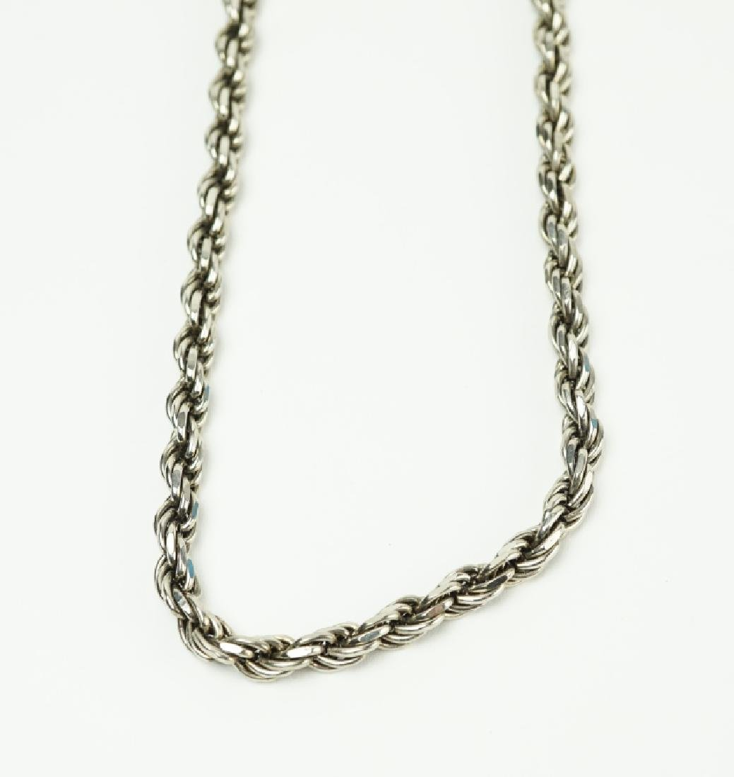 STERLING SILVER ROPE NECKLACE - 2